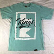 Last Kings Big Logo Light Green / Blue T Shirt L Short Sleeves