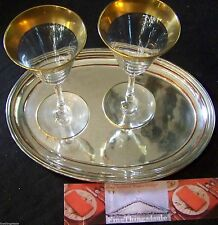 Fine English Style Silver Cocktail Serving Tray / Salver -View FineThings4sale
