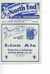 Preston North End v Derby County 1967/68 Division 2