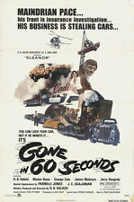 Gone in 60 Seconds 1974 Original Movie Poster Action Crime Drama