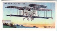1908 Cody 1 Biplane First Sustained British Flight 100+ Y/O Trade Ad  Card