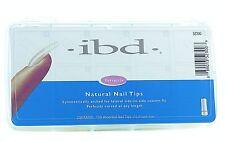 IBD Natural Nail tips box of 100  - full well false nails acrylic gel fibreglass