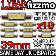 10x 39mm 3 SMD LED 239 272 C5W CANBUS NO ERROR WHITE INTERIOR LIGHT FESTOON BULB