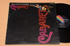 CABARET LP COLONNA SONORA ORIG SOUNDTRACK 1çST ITALY 1972 AUDIOFILI EX+