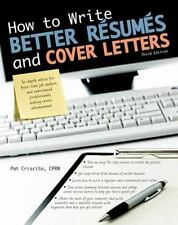 NEW - How to Write Better Resumes and Cover Letters
