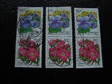 SUEDE - timbre yvert et tellier n° 2043 2044 x3 obl (A29) stamp sweden (D)
