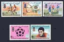 Football Mauritanie (55) série complète 5 timbres oblitérés