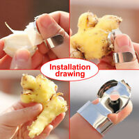 2Pcs Stainless Steel Kitchen Gadget Garlic Ginger Cutter Peeler Practical Tools