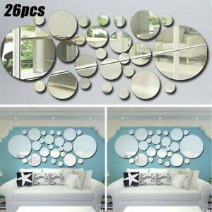 26pcs Spiegel Wandaufkleber Mosaikfliesen Selbstklebend Kunst Sticker Dekor Kit