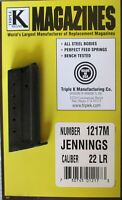 Jennings J-22 .22LR 6 Round RD Magazine Mag Blued Steel Triple K 1217M