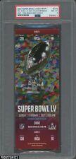 2021 Super Bowl LV Souvenir Scan Ticket Red Variety Tom Brady MVP PSA 8 NM-MT