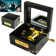 Black Square in Wood Hand Crank Music Box : Harry Potter Theme Soundtrack