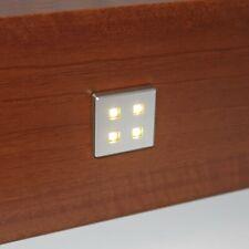 4 X SQUARE KITCHEN LED PLINTH LIGHT KIT WARM WHITE KICK BOARD INCLUDING DRIVER