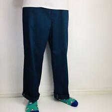Vintage Dickies Chinos W36 L30 Original Fit Work Pant Blue Made in USA