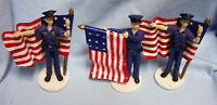 MILITARY WOMAN FIGURINES: Set (3) Military Woman Figurines Each Holding a Flag