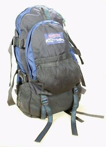 JanSport Nylon Backpack Hiking Trail Hiker Bag  w/ Removable Day Pack VTG