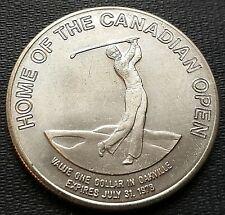 1978 Oakville Ontario $1 Trade Token - Home of the Canadian Open