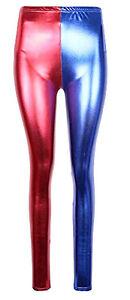 Wet Look Metallic Legging Shining Skinny Party Harlequin Misfit Metallic  A54