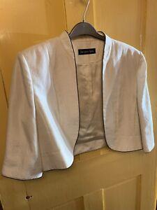 Ivory Jacques Vert Bolero Jacket Size 20
