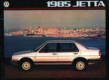 1985 VW Volkswagen Jetta and Diesel Grade-B Original Car Sales Brochure Catalog