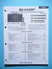 Manuel de reparation pour Sharp CD-S3460,CP-S3460 ,ORIGINAL