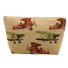 Belly materiales-Vintage Aviones Tapiz Estilo Bolsa De Lavado