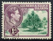 Gilbert & Ellice Is. 1939-55 SG#44, 1d Pandanus Pine KGVI Definitive Used#D15416