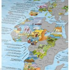 The Bucket List Map NEW great gift for any traveller retirement etc Scratch Off