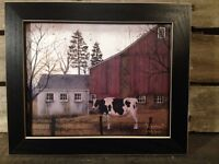 Framed 8 X 10 Billy Jacobs Print Country Primitive Home Decor