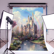 Fairy Castle Scenery Vinyl Photography Backdrop Background Studio Props 5x7FT