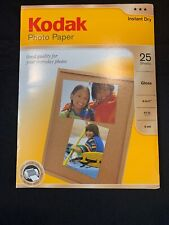 Kodak Gloss Photo Paper 8.5 x 11 Instant Dry 25 sheets Sealed