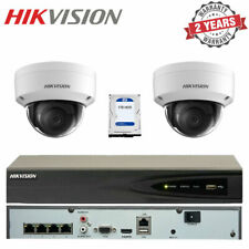 Hikvision 4 Channel NVR Recorder 1TB & 2x 4MP External IR PoE Dome CCTV Cameras