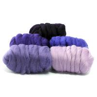 Plush Purple - Dyed Merino Wool Top - Felting - Roving - Spinning - 250g