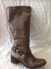 F&F Signature Brown Knee High Leather Boots Size 5