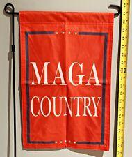 """Donald Trump Garden Flag *FREE SHIP USA SELLER!* MAGA Country R USA Sign 12x18"""""""