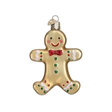 Old World Christmas SUGAR COOKIE (Gingerbread Boy) (32183)N Glass Orn. w/Box