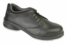 HIMALAYAN 2214 Star S1P Black Ladies Safety Lace-Up Shoe With Midsole UK6 EU39