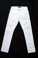 Siviglia Denim Jeans Pantalones Comodidad Blanco Italia Pierna Recta Ajuste Elástico W31 uk14
