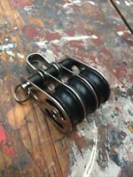 Sailing Dinghy 25mm Triple  Pulley Block Used
