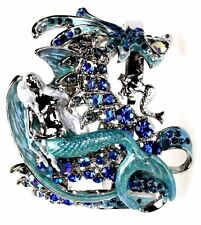 KIRKS FOLLY MERMAID'S SEA DRAGON CUFF BRACELET SILVERTONE/ AVERAGE SIZE