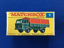1969 Matchbox Lesney Mercedes Truck #1 Box Type F New Mint box