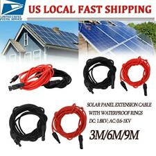 3M/6M/9M Solar Extension Wire Connector Electrical Cord Solar Panel Adaptor Kit