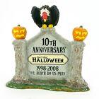 Dept 56 Halloween Village 10th Anniversary Sign Gravestone w Vulture 805026 NEW