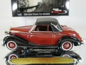 MERCEDES BENZ 170s (1950) RED/BLACK, 1:43 Scale CLASSIC CAR by SIGNATURE MODELS