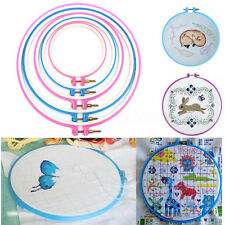5Pcs Plastic Cross Stitch Machine Embroidery Hoop Ring Craft Sewing Frame Set