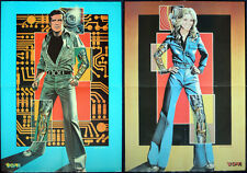 SIX MILLION DOLLAR BIONIC MAN & WOMAN POSTERS X2 . HIS N HERS . A2 SIZE .NOT DVD