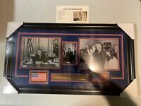 Lyndon Johnson Autograph Signed 8x10 Photo President Collage Framed JSA Letter