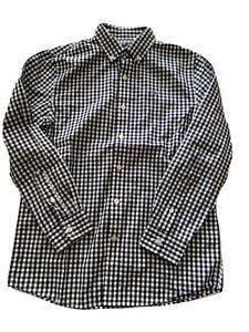 Vineyard Vines Boys Plaid Button Down Shirt BLUE/WHITE Size M 12-14 EUC