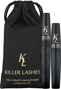Killer Lashes Mascara Black and Ultimate Fibre Lash Extender for Fuller Longer