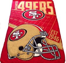 San Francisco 49ers blanket 62x90 XXL FREE SHIPPING Lightweigt NFL Niners throw